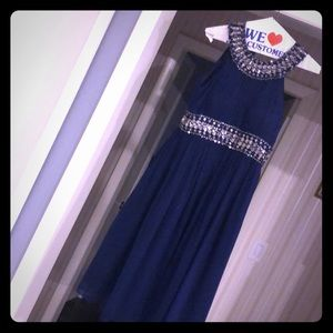 Camille navy blue sleeveless dress!